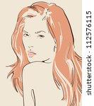 beautiful woman vector illustration eps 10