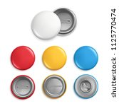 metallic round badges.... | Shutterstock .eps vector #1125770474
