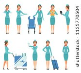 stewardess characters. various... | Shutterstock .eps vector #1125770504