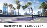 street basketball court 3d... | Shutterstock . vector #1125773147