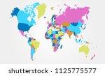 color world map vector | Shutterstock .eps vector #1125775577