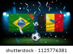 day of the match. brazil versus ... | Shutterstock .eps vector #1125776381