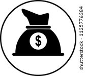 an icon of a big bag of money... | Shutterstock .eps vector #1125776384