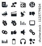 set of vector isolated black... | Shutterstock .eps vector #1125779834
