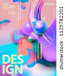 abstract fluid colors poster... | Shutterstock .eps vector #1125782201