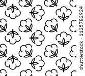 cotton flower icon seamless... | Shutterstock .eps vector #1125782924