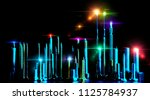 city skyline concept with screw ... | Shutterstock . vector #1125784937