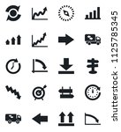 set of vector isolated black... | Shutterstock .eps vector #1125785345