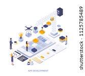 modern flat design isometric... | Shutterstock .eps vector #1125785489