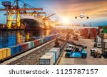 global business of container... | Shutterstock . vector #1125787157