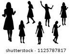 vector silhouettes women... | Shutterstock .eps vector #1125787817