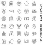 thin line vector icon set  ... | Shutterstock .eps vector #1125789104