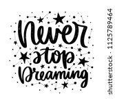 vector poster with phrase and... | Shutterstock .eps vector #1125789464