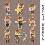 cowboy stickers | Shutterstock .eps vector #112579205
