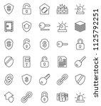 thin line vector icon set  ... | Shutterstock .eps vector #1125792251