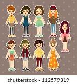 beauty girl stickers | Shutterstock .eps vector #112579319
