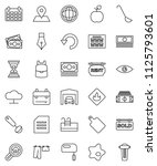 thin line vector icon set  ... | Shutterstock .eps vector #1125793601