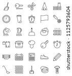 thin line vector icon set  ...   Shutterstock .eps vector #1125793604