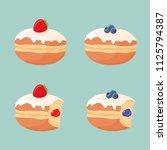 set of deep fried cute yummy... | Shutterstock .eps vector #1125794387
