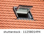 skylight on a residential home  ... | Shutterstock . vector #1125801494