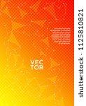 vector report template. global... | Shutterstock .eps vector #1125810821