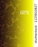 trendy cover page layout.... | Shutterstock .eps vector #1125810827
