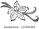 vanilla pods and flower | Shutterstock .eps vector #112581305