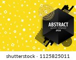 holiday golden shine abstract... | Shutterstock .eps vector #1125825011