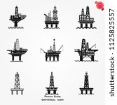oil platform icon gas sea rig... | Shutterstock .eps vector #1125825557