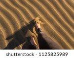 gran canaria  maspalomas dunes  ...   Shutterstock . vector #1125825989