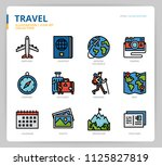 travel icon set | Shutterstock .eps vector #1125827819