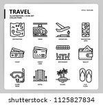 travel icon set | Shutterstock .eps vector #1125827834