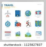travel icon set | Shutterstock .eps vector #1125827837