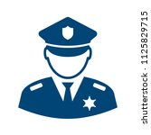 policeman avatar vector icon... | Shutterstock .eps vector #1125829715