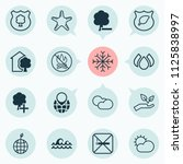 eco friendly icons set with no... | Shutterstock .eps vector #1125838997