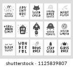 kids posters set. scandinavian... | Shutterstock .eps vector #1125839807