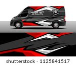 cargo van decal  truck and car... | Shutterstock .eps vector #1125841517