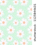 pattern of white camomiles and... | Shutterstock .eps vector #1125844631