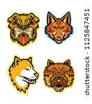 mascot icon illustration set of ... | Shutterstock .eps vector #1125847451