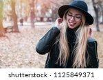 closeup portrait of young... | Shutterstock . vector #1125849371