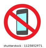 no cellphones sign  don't use... | Shutterstock .eps vector #1125852971