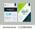 set of simple business flyer... | Shutterstock .eps vector #1125860681