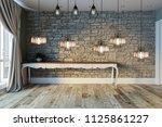interior design modern lamp ... | Shutterstock . vector #1125861227