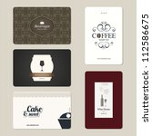 set of 5 detailed business... | Shutterstock .eps vector #112586675