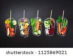 food ingredients for blending... | Shutterstock . vector #1125869021
