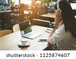 freelance of businesswoman... | Shutterstock . vector #1125874607