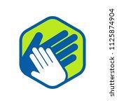 hand care charity logo emblem...   Shutterstock .eps vector #1125874904