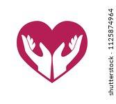hand care charity logo emblem... | Shutterstock .eps vector #1125874964