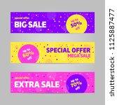 big sale banner template design ... | Shutterstock .eps vector #1125887477