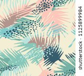 seamless exotic pattern with... | Shutterstock .eps vector #1125899984